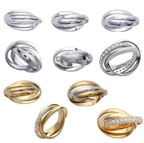 Bague acier homme 3 anneaux