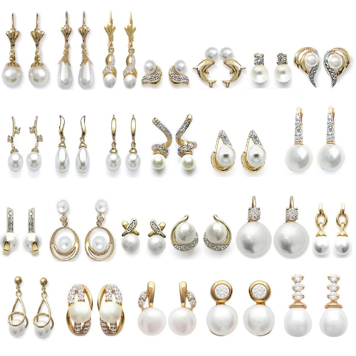 Boucles d'oreilles dormeuses perles de culture