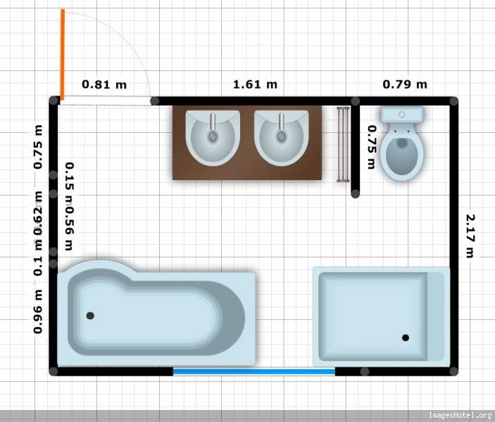 Très Idée aménagement salle de bain 7m2 BA48