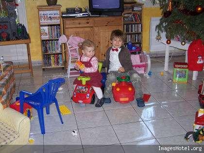 mes petits enfants le jour du nouvel an