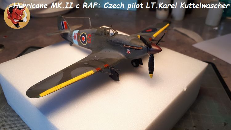 [mister Craft]Hawker Hurricane MK.IIC Czech LT Karel Kuttelwasher 20190708144736