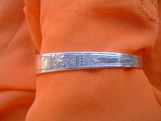 Image bracelettouaregafricainenargentmassifref20038