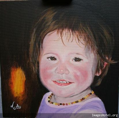Portrait de Lilas à l'acrylique Lilas%20acrylique%20blog