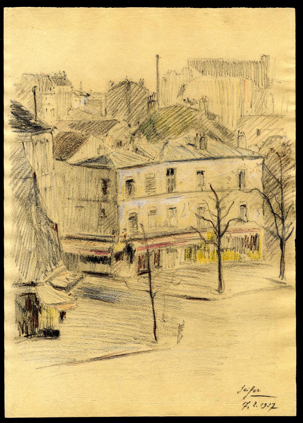 Robert Naly Suisse Rue des Saules Butte Montmartre Kisling Soutine Leprin Utter Horst Suzanne Valadon