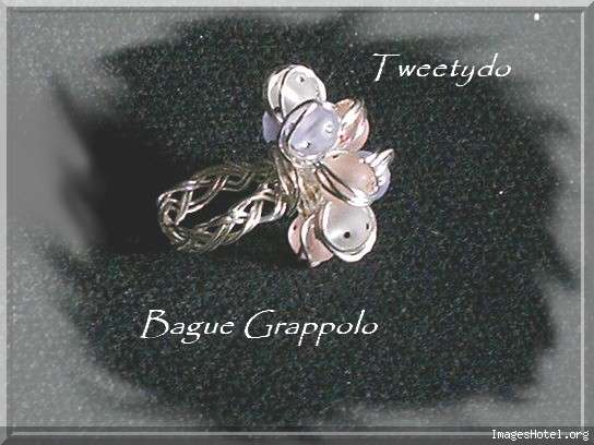 Bague Grappolo Baguegrappoloperlesdisco