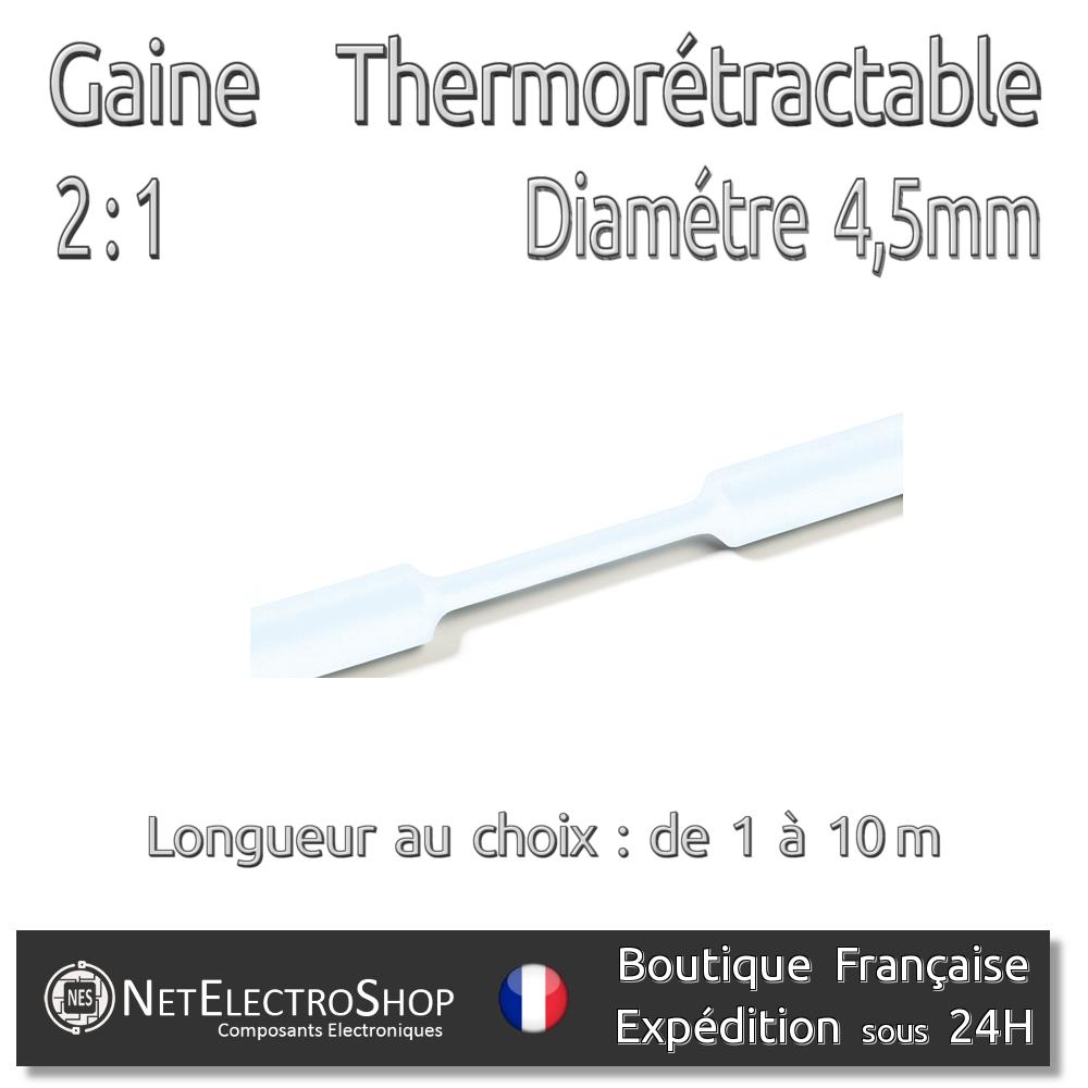 Gaine Thermo Rétractable 2:1 1m Diam Transparente 2,5 mm