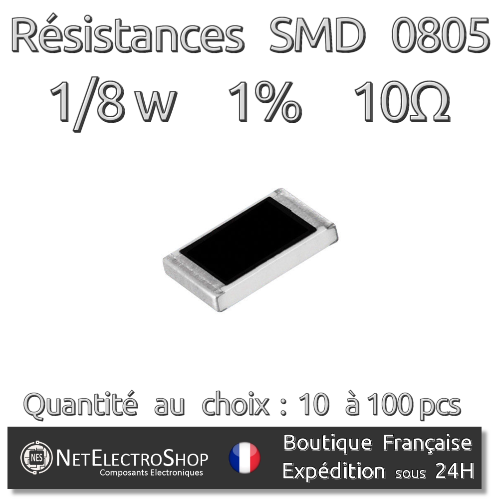 Résistances 0 Ohms 0R Couche Métal 1//4W 1/% Lot de 20 50 ou 100pcs