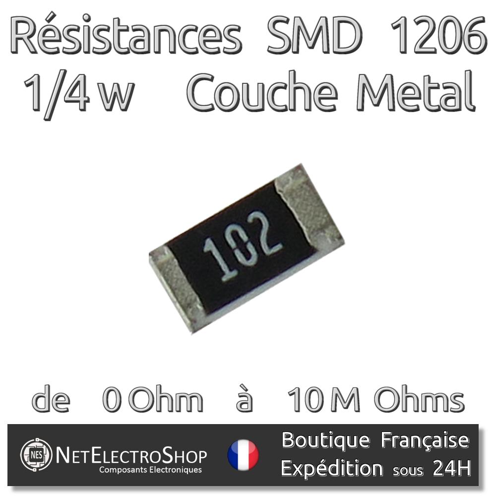 1/% Couche Metal Resistances 1//2w 680kOhms 680kR Lot de 10,20,40 ou 100 pièces